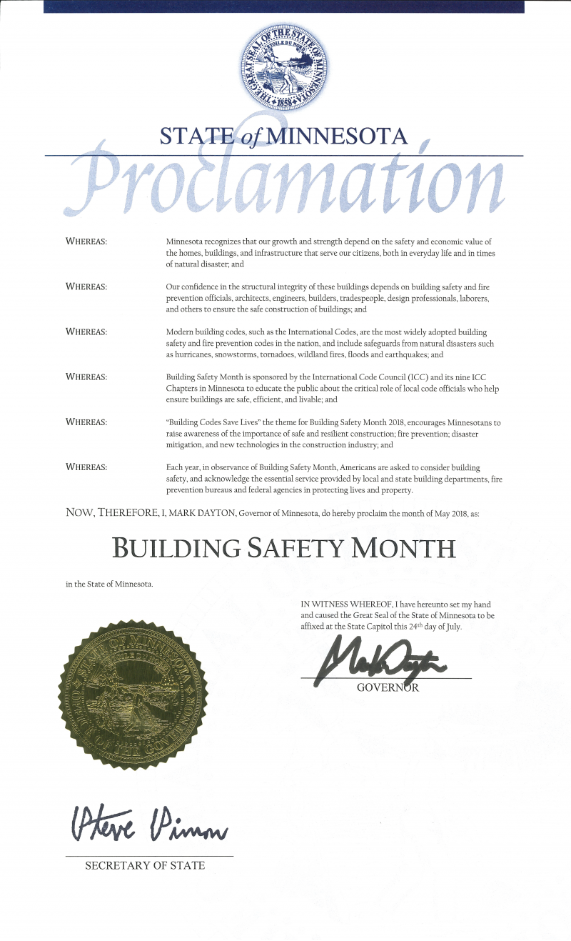 Building Safety Month Proclamation