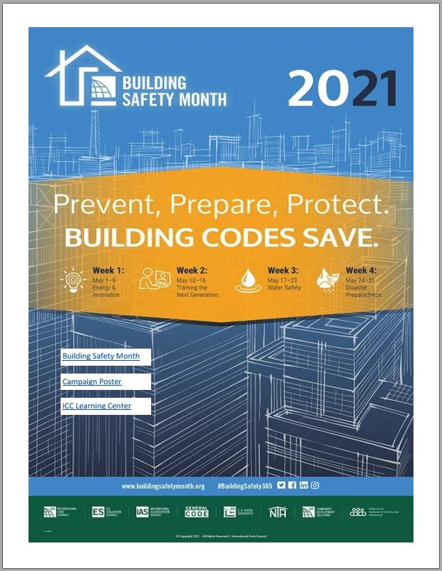 Building Safety Month poster
